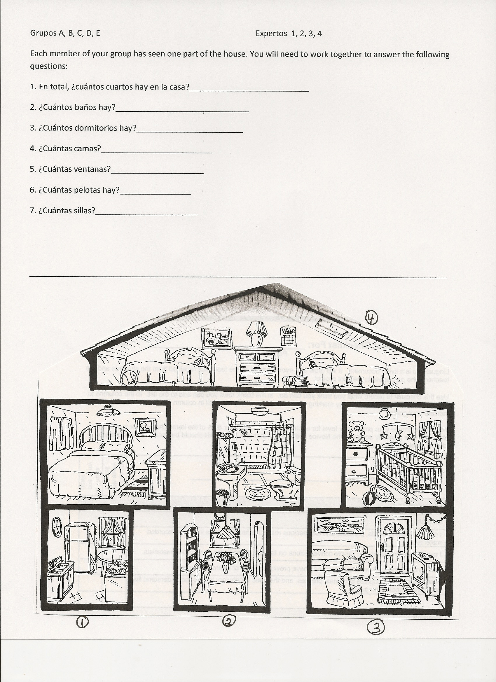 Coloring Activity For Parts Of The House Coloring Pages